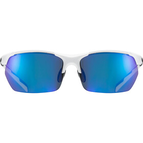 UVEX Sportstyle 114 Sportglasses white/black matt/mirror blue
